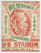 view Program for a college football game between Wilberforce and Tuskegee, 1944 digital asset number 1