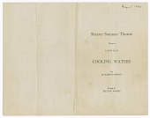 view Program for Shearer Summer Theatre's production of Cooling Waters digital asset number 1