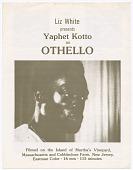 view Program for Liz White's presentation of Othello digital asset number 1