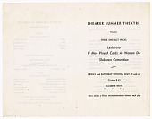 view Program for three plays by Shearer Summer Theatre digital asset number 1