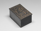 view Desk box and lid with weighted roller blotter digital asset number 1