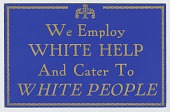 view Sign from a segregated restaurant digital asset number 1