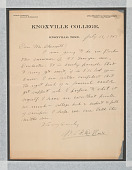 view Letter to Charles Chesnutt from W. E. B. Du Bois digital asset number 1