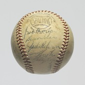 view Baseball signed by the 1953 Brooklyn Dodgers team digital asset number 1