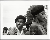 view <I>Black Panther guards at Free Huey Rally, Bobby Hutton Memorial Park, Oakland, CA, No. 21</I> digital asset number 1