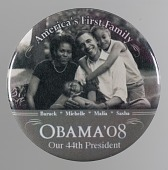view Pinback button from the 2008 Obama campaign digital asset number 1
