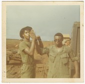 view Photograph of two American soldiers in Vietnam digital asset number 1