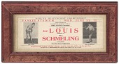 view Advertisement for boxing match between Joe Louis and Max Schmeling digital asset number 1