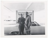 view Photographic print of Joe Louis shaking hands with unidentified man digital asset number 1