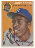 view Baseball card for Hank Aaron in his rookie year digital asset number 1
