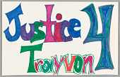 """view Sign reading """"Justice 4 Trayvon"""" digital asset number 1"""
