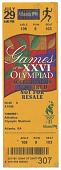 view Ticket for 1996 Summer Olympics athletics event owned by Carl Lewis digital asset number 1