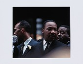 view Digital print of Dr. Martin Luther King Jr., Albert Raby, and Ralph Abernathy digital asset number 1