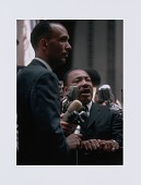 view Digital print of Raby and King at a Chicago Freedom Movement rally digital asset number 1