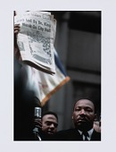 view Digital print of Dr. Martin Luther King, Jr. and Andrew Young at a Chicago rally digital asset number 1