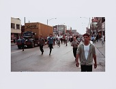 view Digital print of a crowd running during a Chicago Freedom Movement march digital asset number 1