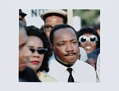 view Digital print of Dr. Martin Luther King Jr. and Coretta Scott King at a rally digital asset number 1