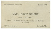 view Business card of Mme. Dovie Wright, hair culturist digital asset number 1