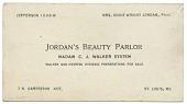 view Business card of Jordan's Beauty Parlor digital asset number 1