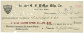 view Check signed by Madam C. J. Walker digital asset number 1