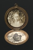 view Locket with photographs of Harriette and Harry T. Moore digital asset number 1