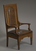 view Deacon's chair from Spruce Street Baptist Church, Nashville digital asset number 1