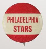 view Pinback button for the Philadelphia Stars digital asset number 1