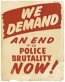 "view Placard from March on Washington ""WE DEMAND AN END TO POLICE BRUTALITY NOW"" digital asset number 1"