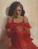 view <I>Girl in Red Dress</I> digital asset number 1