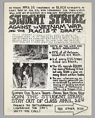 view Flyer advertising student strike against the Vietnam War digital asset number 1