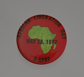 view Pinback button promoting African Liberation Day digital asset number 1