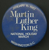 view Pinback button promoting Martin Luther King Day digital asset number 1