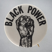 view Pinback button with Black Power fist digital asset number 1