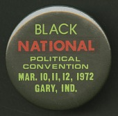 view Pinback button for the Black National Political Convention digital asset number 1
