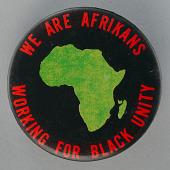 view Pinback button promoting black unity digital asset number 1