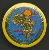 view Pinback button promoting the Sixth Pan African Congress digital asset number 1