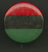 view Pinback button of the Pan-African flag digital asset number 1