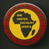 view Pinback button promoting All-African People's Revolutionary Party digital asset number 1
