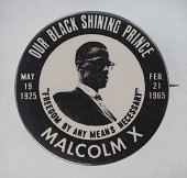 view Pinback button featuring Malcolm X digital asset number 1
