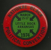 view Pinback button promoting the National Black Political Convention digital asset number 1