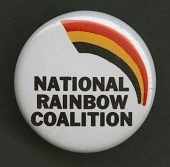 view Pinback button promoting the National Rainbow Coalition digital asset number 1