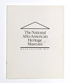 view Program from the National Afro-American Heritage Museum fundraising event digital asset number 1