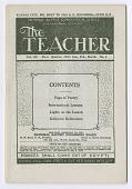 view <I>The Teacher Vol. 52 No. 1</I> digital asset number 1