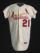 view Jersey for the St. Louis Cardinals worn by Curt Flood digital asset number 1