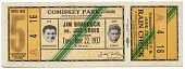 view Ticket to a championship boxing match between Joe Louis and Jim Braddock digital asset number 1