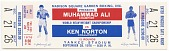view Ticket to a championship boxing match between Muhammad Ali and Ken Norton digital asset number 1