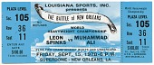 view Ticket to a championship boxing match between Muhammad Ali and Leon Spinks digital asset number 1