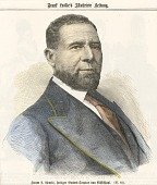 view Lithographic print of Hiram Revels digital asset number 1