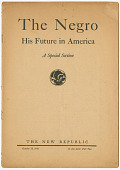 view <I>The Negro: His Future in America</I> digital asset number 1