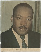 view Portrait print of Martin Luther King, Jr. from Mae's Millinery Shop digital asset number 1